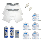 afex male incontinence system value pack alternative to condom catheters or adult disposable briefs