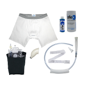 afex male incontinence system mobility assisted starter kit alternative to condom catheters or adult disposable briefs