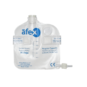 afex male incontinence system vented collection bag